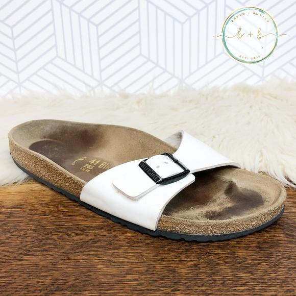 Birkenstock Madrid White Patent Leather Sandals